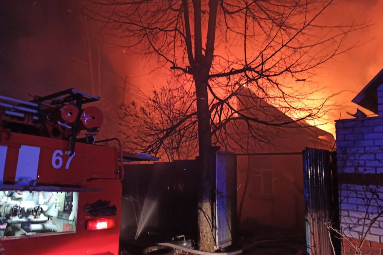 На Харьковщине – большой пожар (фото)