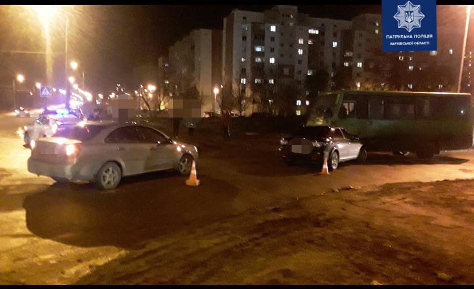 В Харькове в ДТП попали автобус и две легковушки (фото)