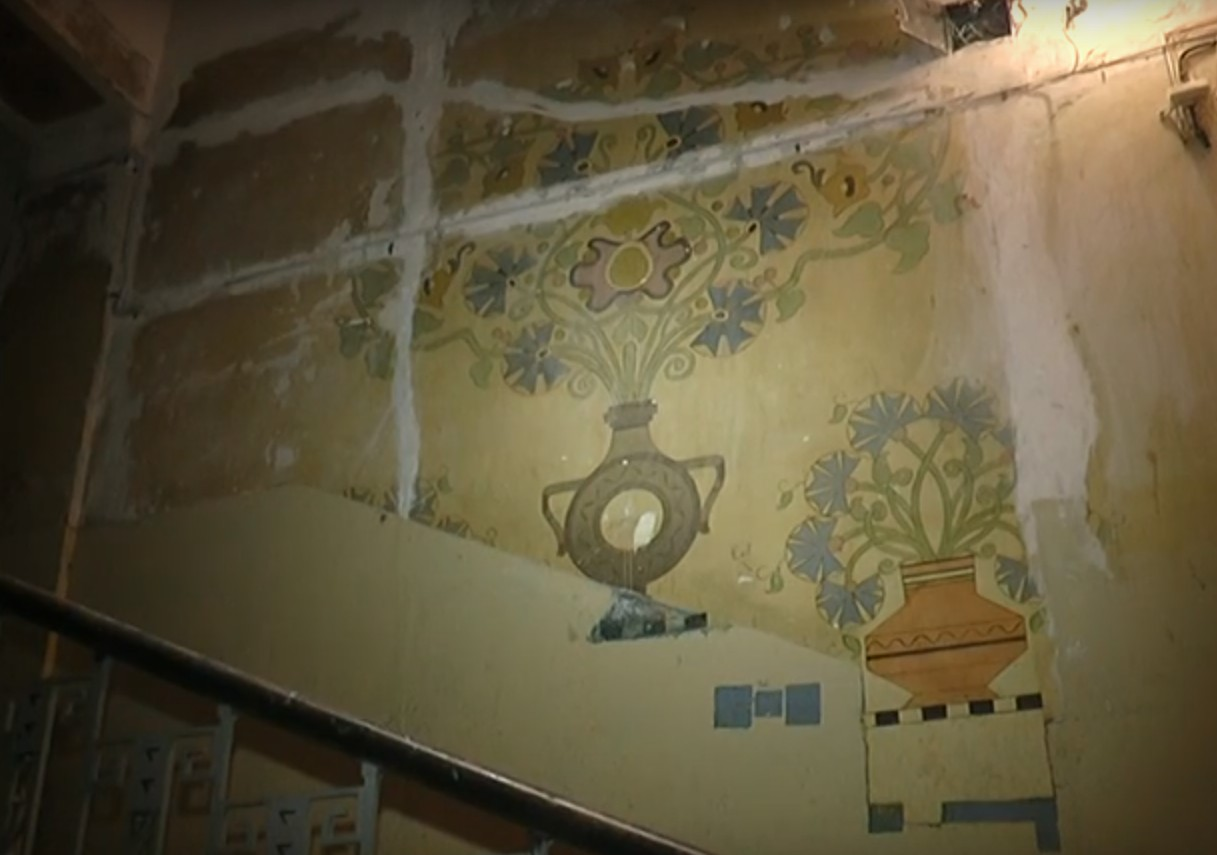 В Харькове реставрируют дом со столетней росписью художника Самокиша