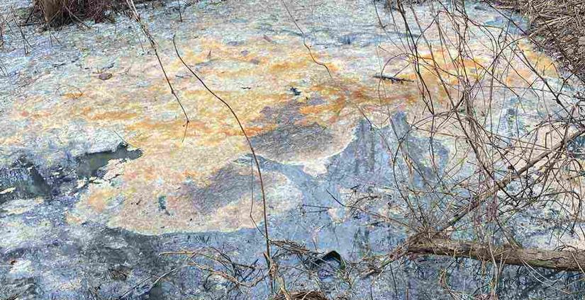 В реке на Харьковщине зафиксирован сброс сточных вод (фото)