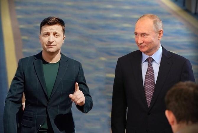 Путин отказался говорить о Донбассе и позвал Зеленского в Москву (видео)