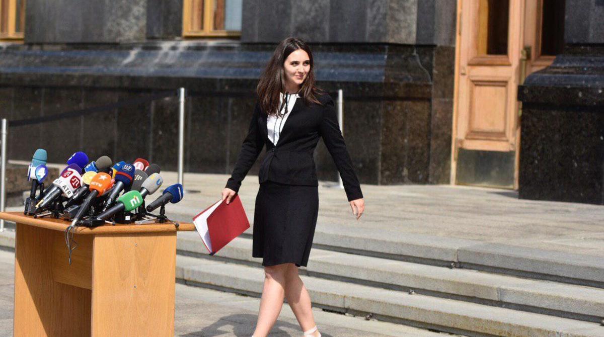 Юлия Мендель, экс-пресс-секретарь президента, сменила Зеленского на Ермака (скриншот)