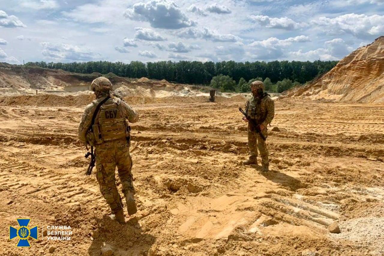 На Харьковщине СБУ блокировала незаконную добычу полезных ископаемых (фото)