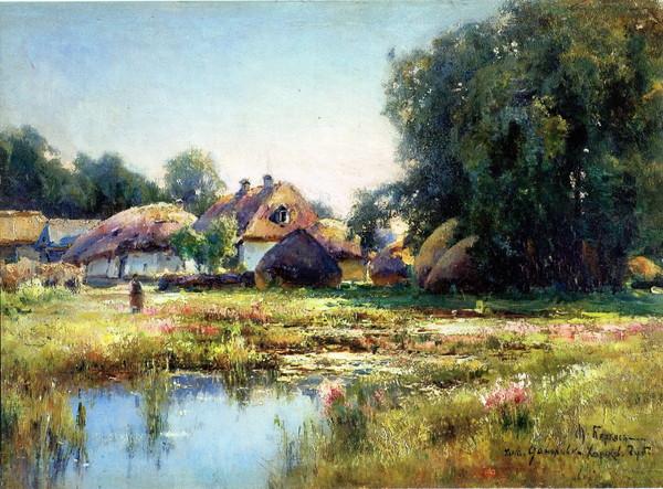 Картина Беркоса «На хуторе Малая Даниловка», 1903 год. Фото из открытых источников