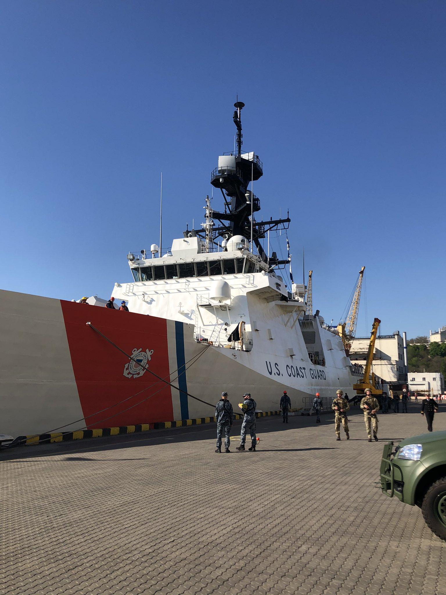 Фрегат США зашел в одесский порт
