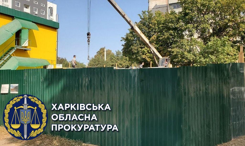 Харьковчанин самовольно занял земельный участок и оборудовал гаражные боксы (фото)
