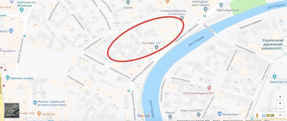Популярный в Харькове сад «Бавария» находился между Харьковской набережной, Черноглазовской (сейчас Маршала Бажанова) и Мещанской (сейчас Гражданская) улицами