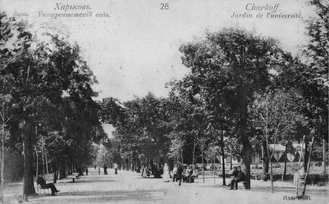 Университетский сад сейчас – городской сад им. Т. Г. Шевченко