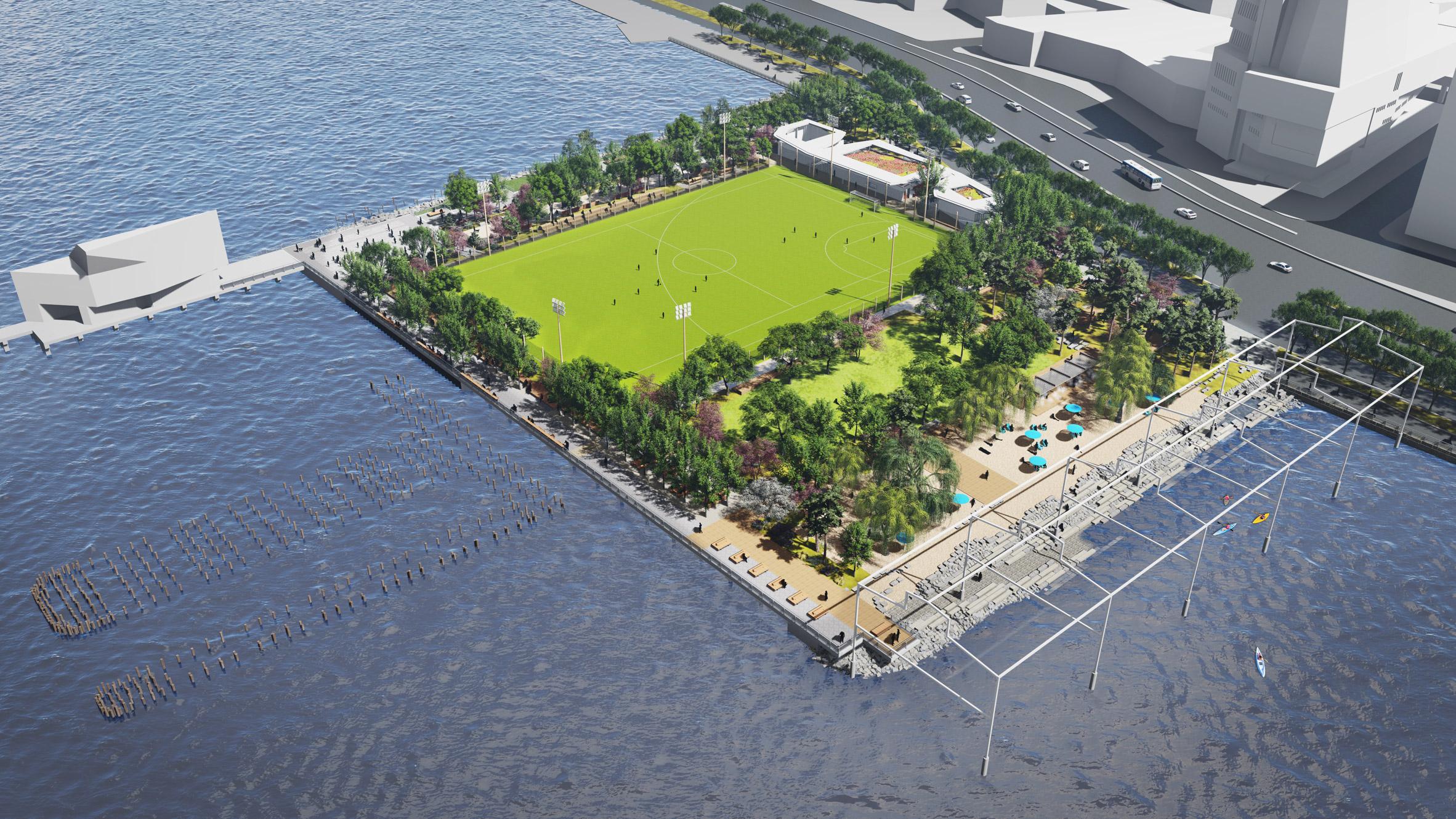 На Манхеттене вскоре появится общественный пляж (фото)
