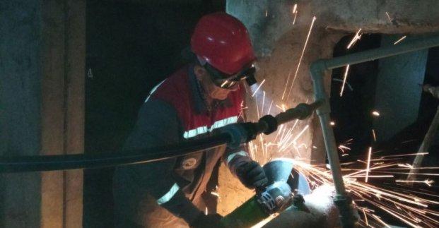 В Московском районе капитально ремонтируют внутридомовые системы водоотведения