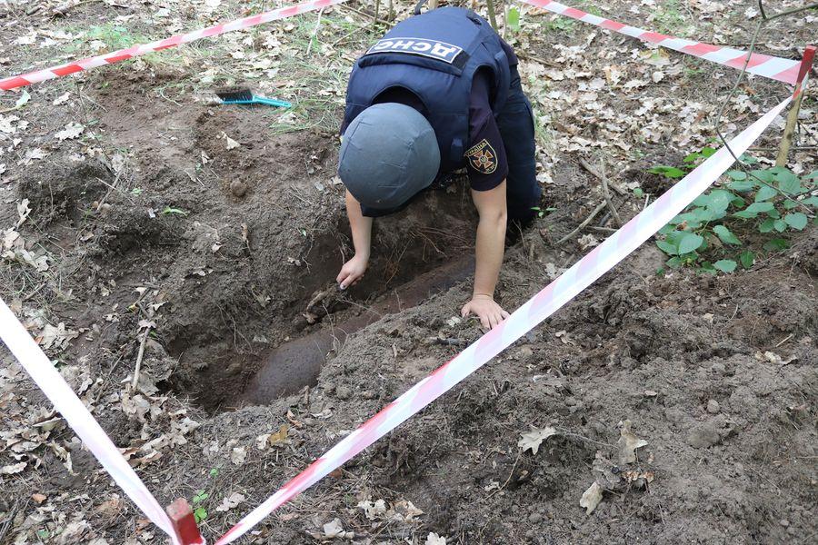 В Харьковской области возле дачных домов нашли 250-килограммовую бомбу (фото)
