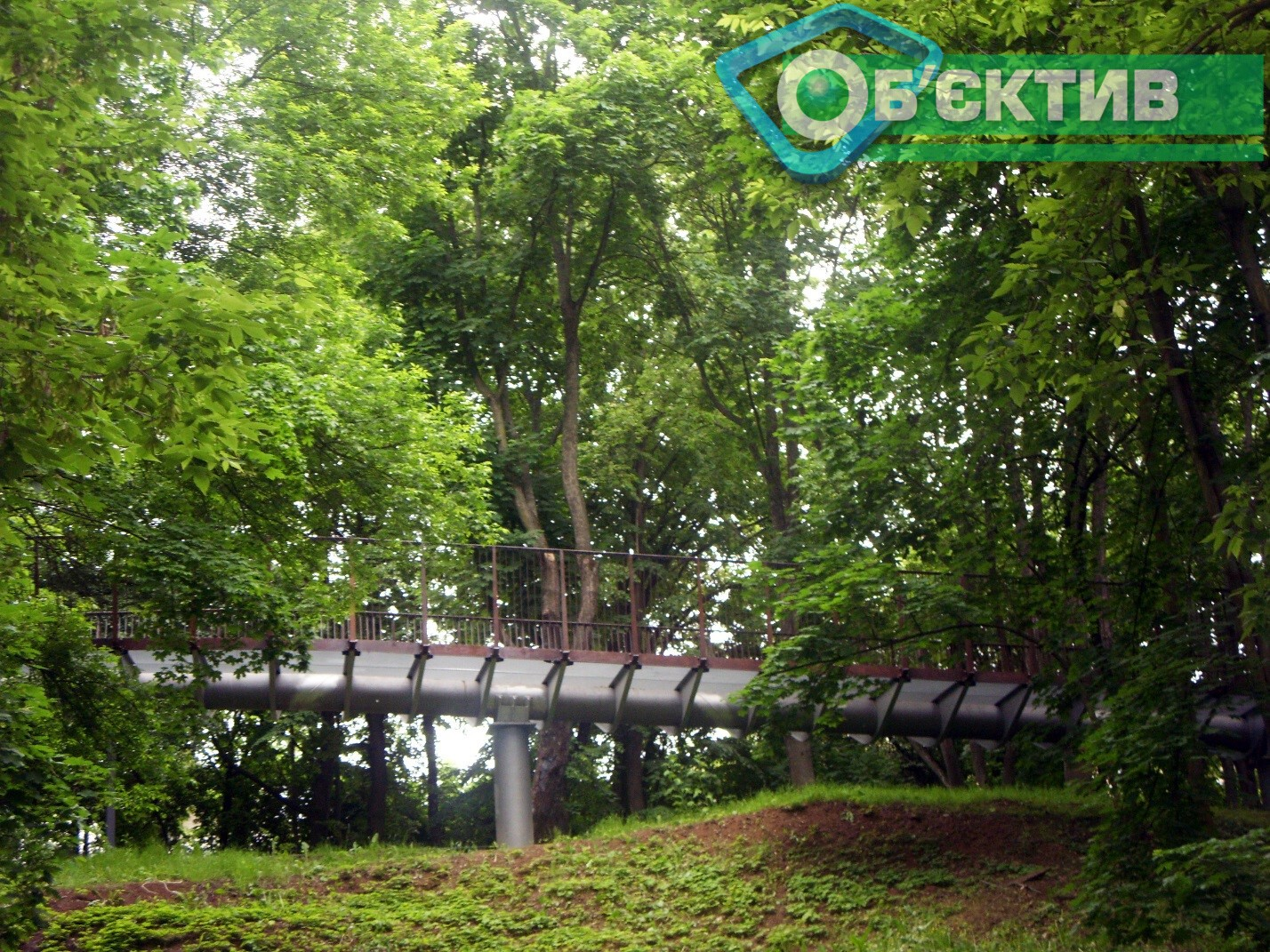 Мост для велосипедистов в Харькове