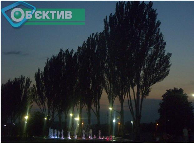 """Парк """"Победа"""" в Харькове вечером"""