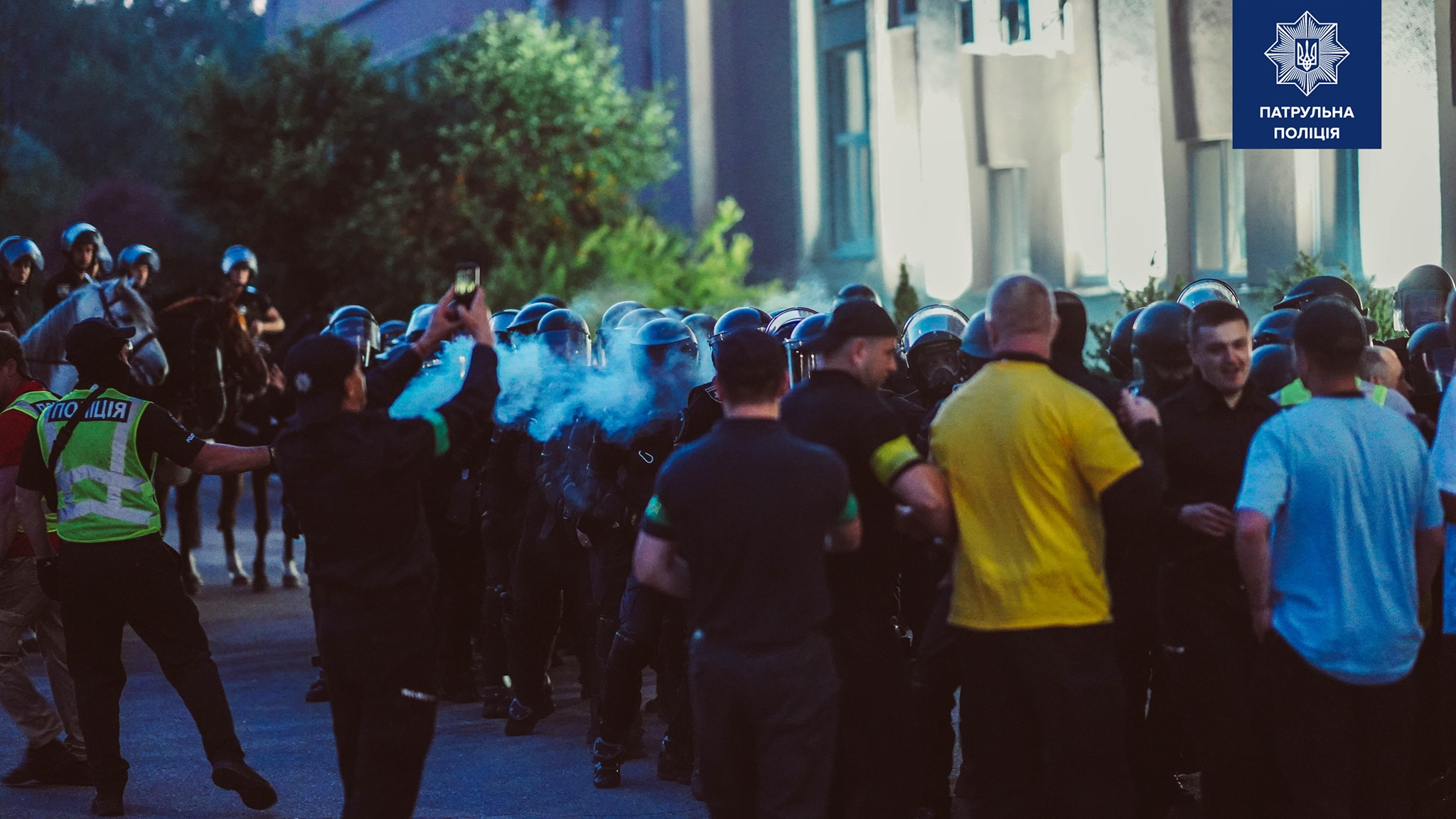 Как в Харькове прошли полицейские учения по противодействию массовым беспорядкам (видео)