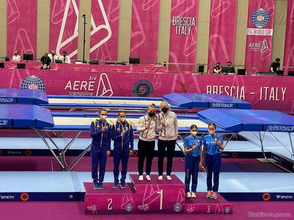 Спортсменка из Харькова на пьедестал Кубка мира по прыжкам на батуте