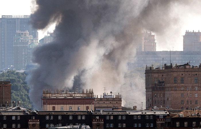 В центре Москвы – взрывы (видео)