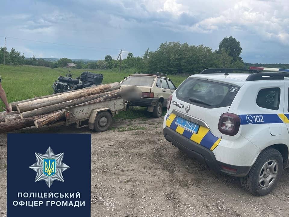Жителя Харьковщины задержали на перевозке древесины без документов (фото)