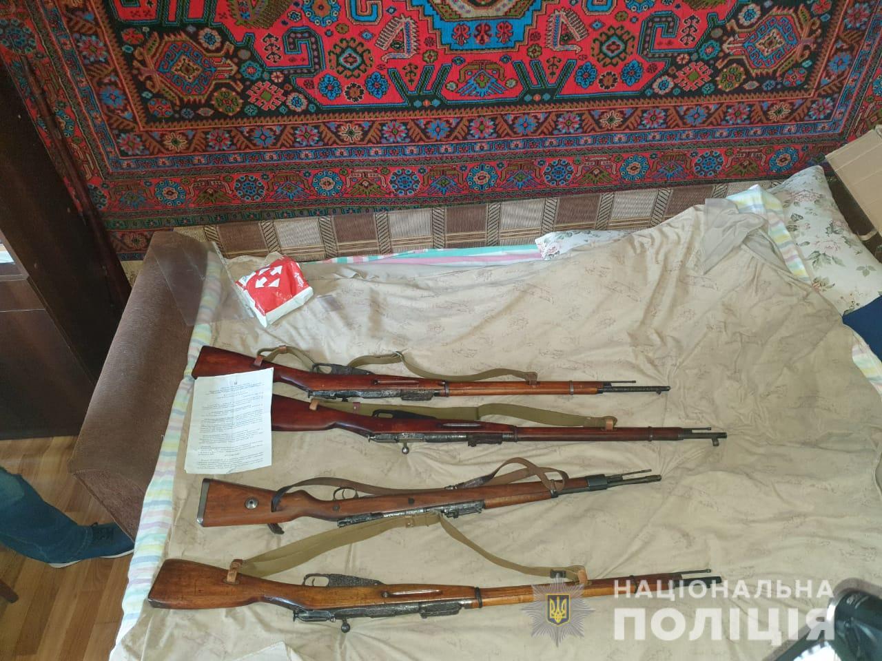 Нелегальный склад оружия нашли в Люботине