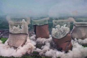 В Великобритании взорвали градирни