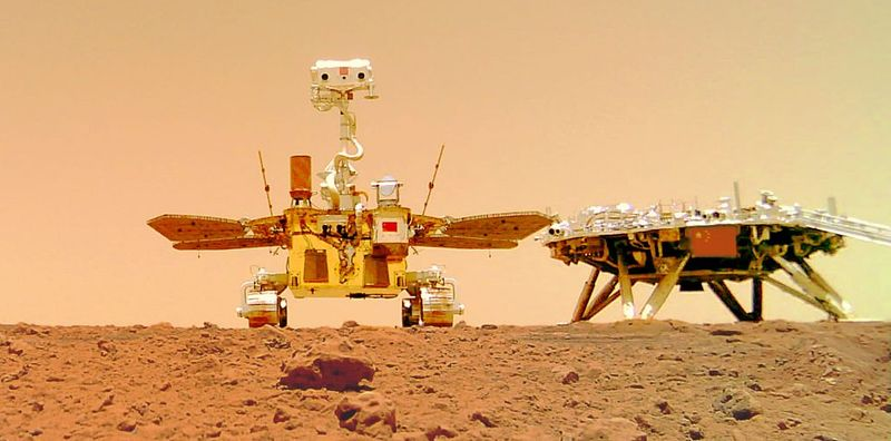 Китайский марсоход прислал видео на землю (видео)