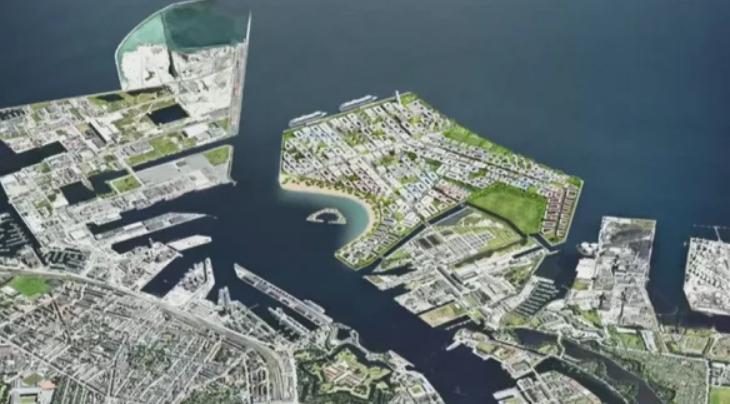 В море рядом с побережьем Дании построят огромный искусственный остров