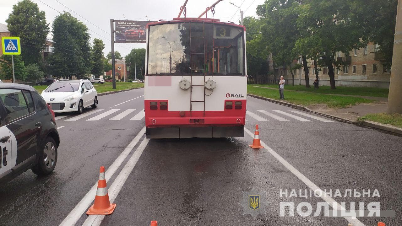 В Харькове троллейбус наехал на женщину-пешехода: в полиции рассказали подробности