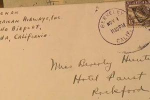 Письмо, раскрывающее маршрут последнего полета Амелии Эрхарт
