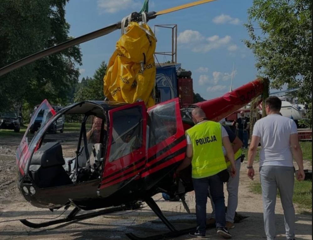 В Польше вертолет с украинцами упал в озеро: есть пострадавшие