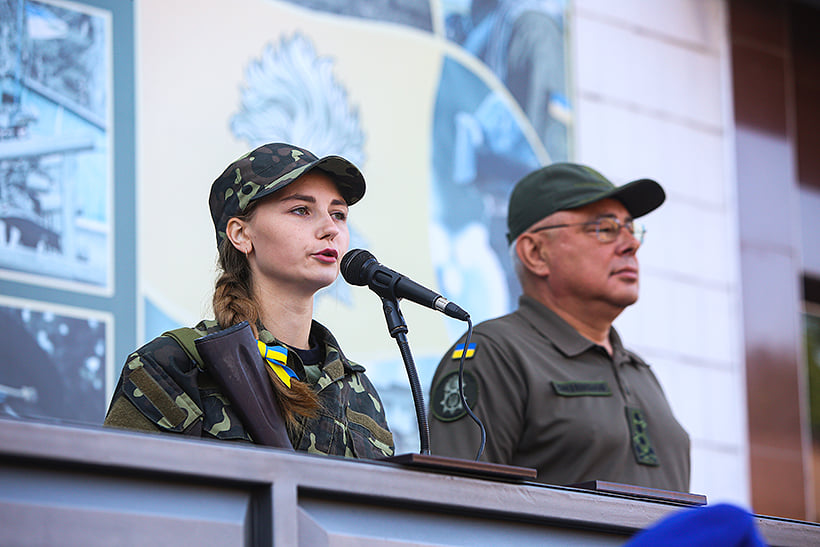 В Харькове офицеры запаса дали присягу