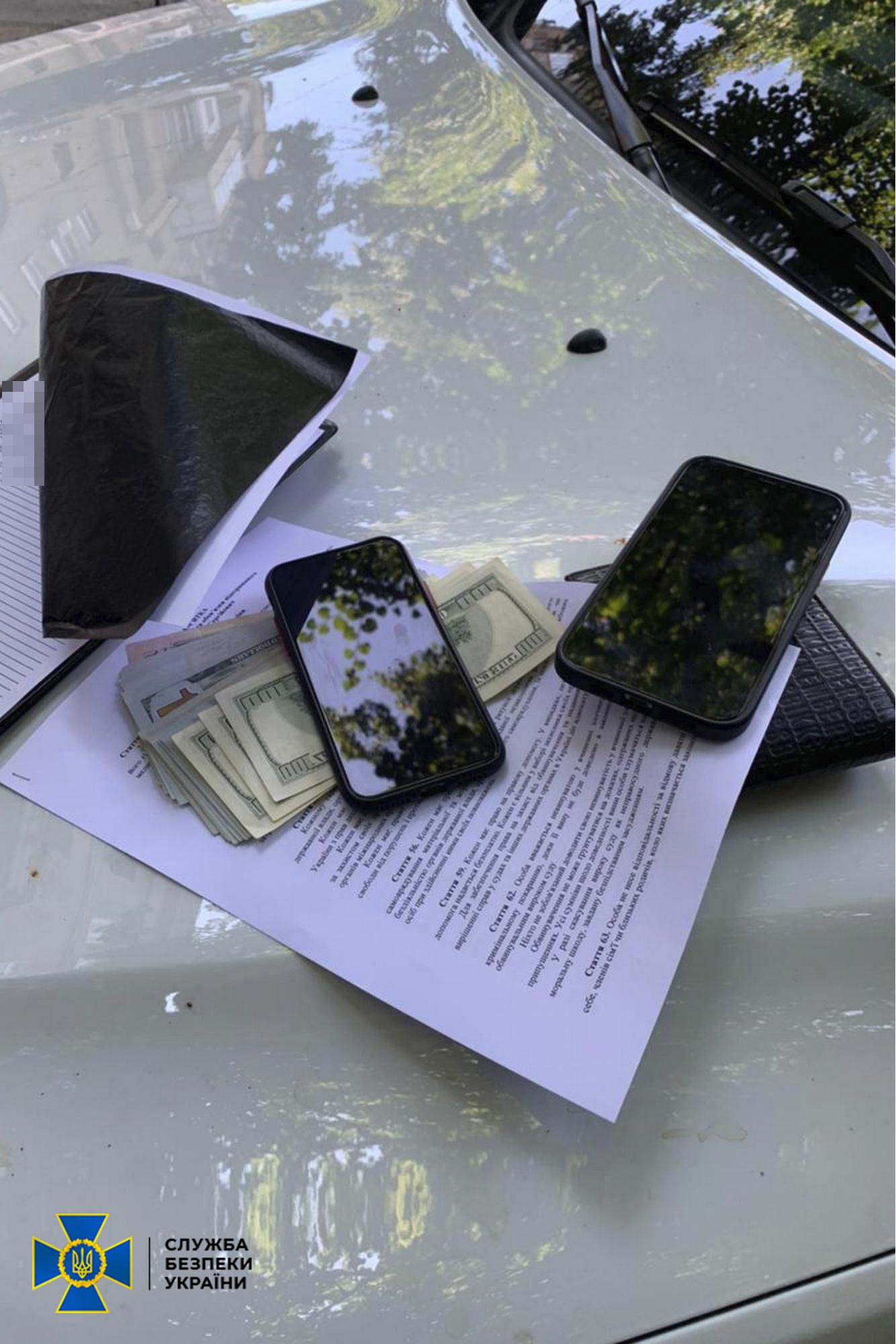 Харьковского пограничника задержали при получении взятки на общую сумму почти 13 тыс. долларов (фото)
