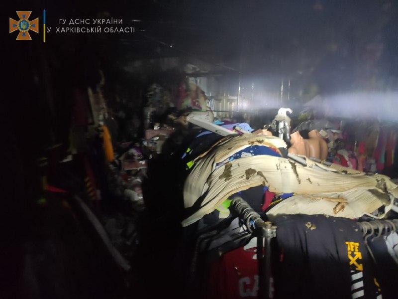 В Харьковской области сгорел отдел магазина детских игрушек (фото)