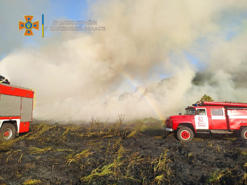 Харьковские спасатели за сутки ликвидировали 20 пожаров на открытых территориях