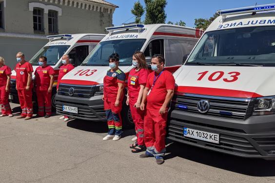 Новые спецавтомобили «скорой» появятся еще в трех районах Харьковщины