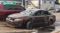 В Харькове машина перевернулась на крышу и пролетела несколько десятков метров (фото, видео)