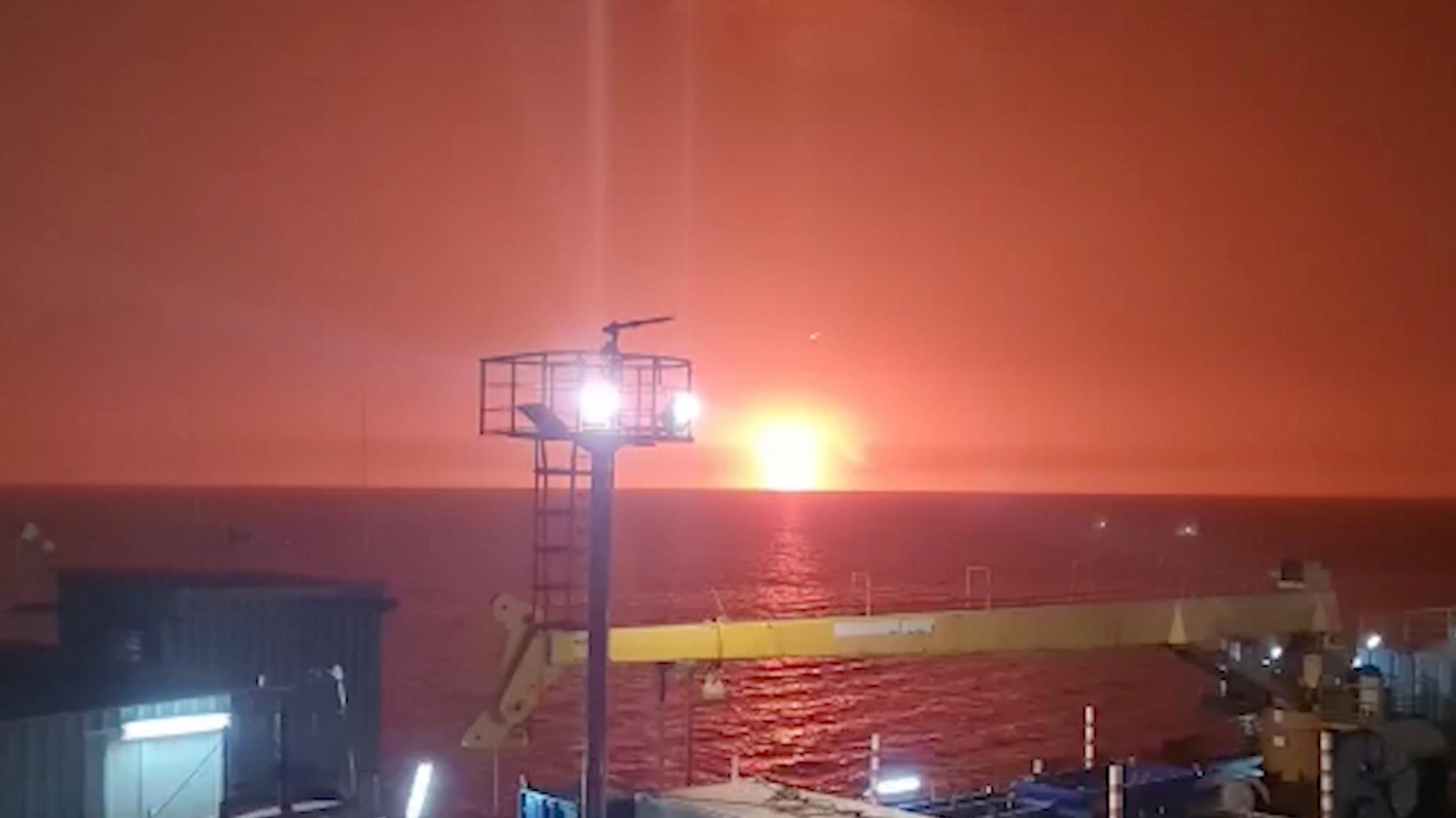 В Каспийском море произошел взрыв грязевого вулкана
