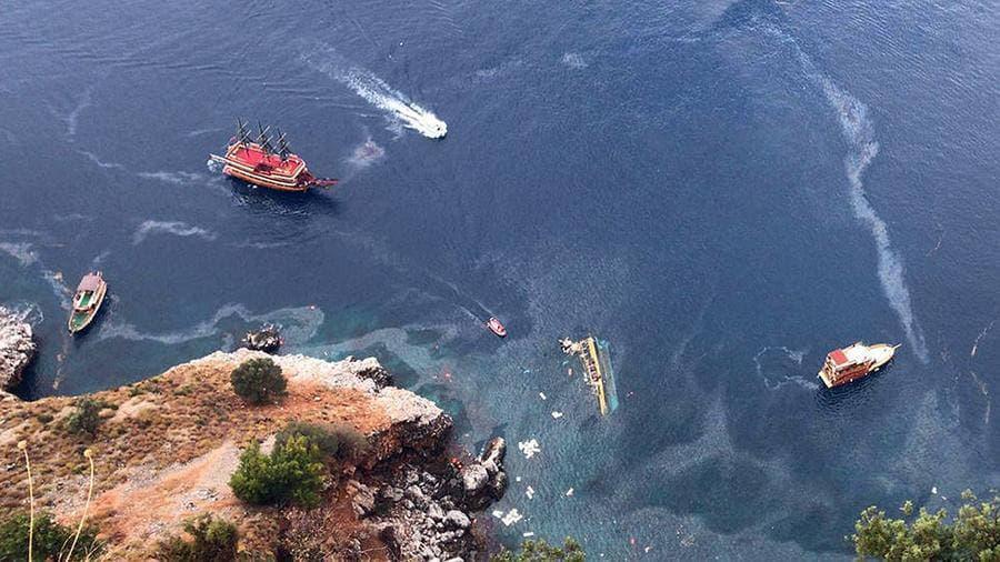 В оккупированном Крыму туристы засмотрелись на медуз и перевернули катер (фото)