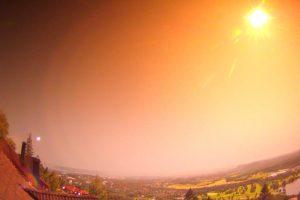В Норвегии засняли падение метеорита