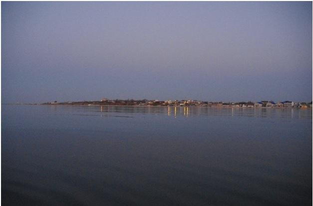 Вид на Кирилловку с моря