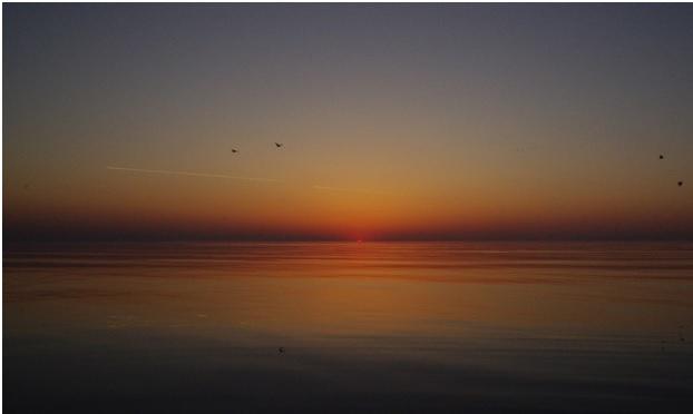 Закат на Азовском море в Кирилловке