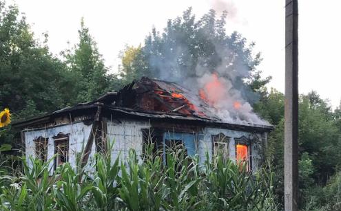 В Харьковской области на пожаре пострадали два человека