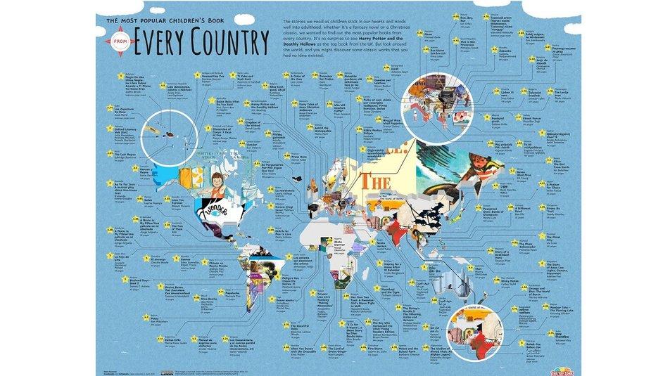 В Британии создали карту самых популярных детских книг: кто представил Украину