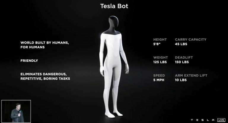 Илон Маск готовится представить человечеству нового робота — гуманоида Tesla Bot (видео)