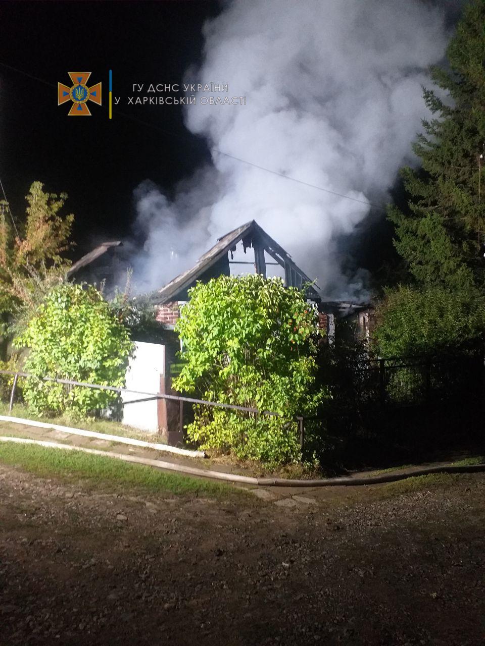 На Харьковщине на месте пожара обнаружено обгоревшее тело мужчины
