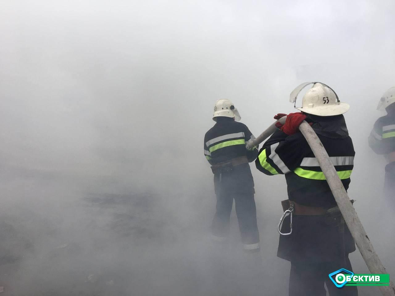 На полигоне ТБО в Дергачах спасатели отрабатывали ликвидацию возможного пожара