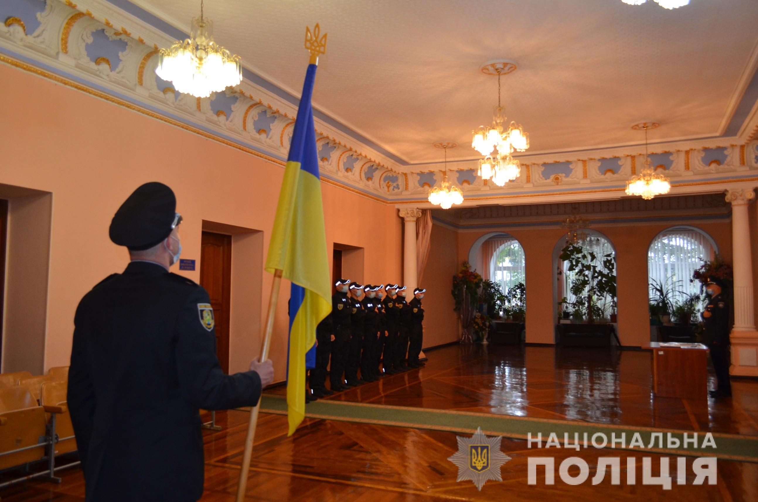 Полицию Харьковщины пополнили новые спецназовцы (фото)