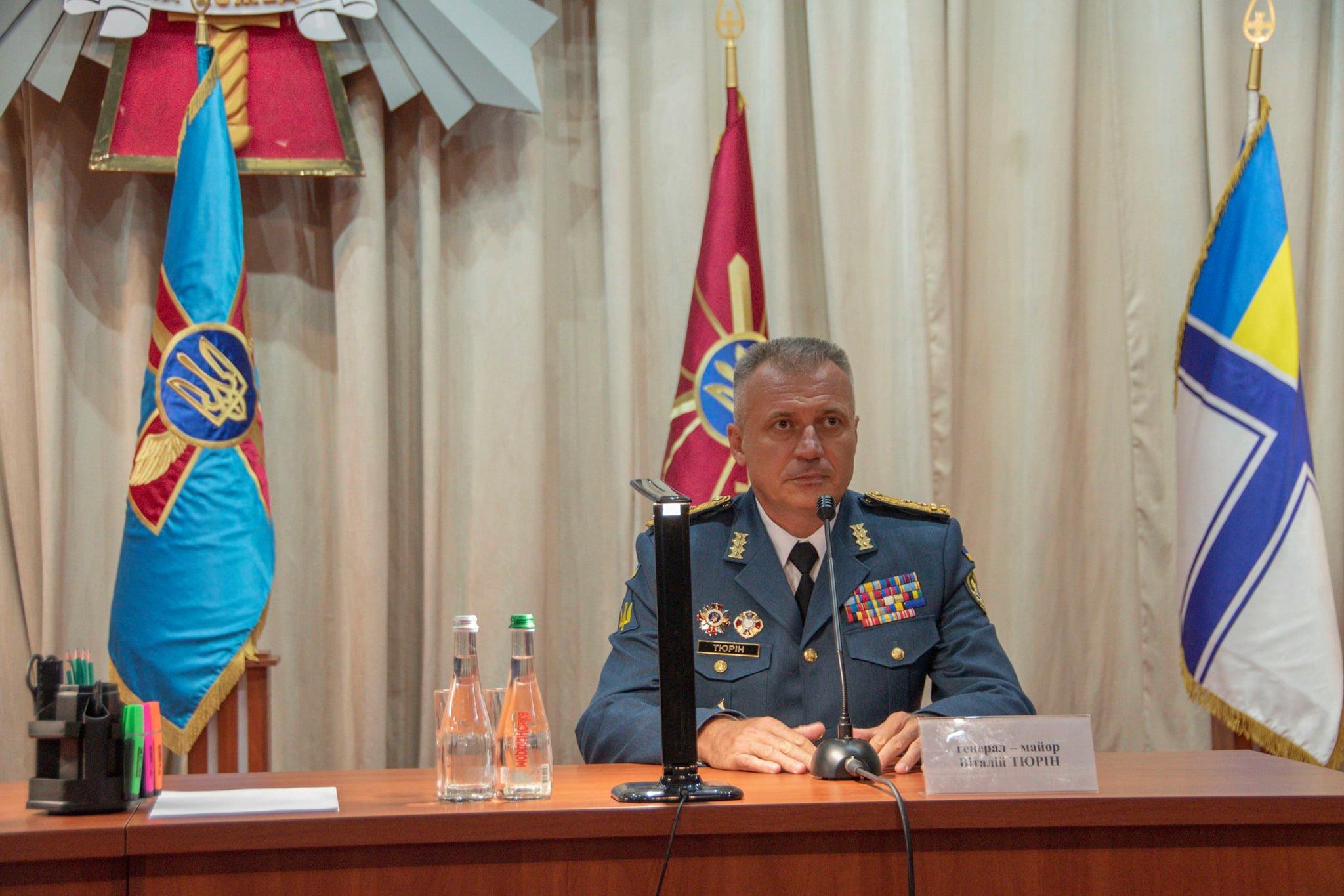 Генерал-майор Виталий Тюрин стал новым руководителем ХНУВС имени Кожедуба