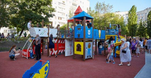 В Харькове на улице Северина Потоцкого открыли многофункциональную зону отдыха