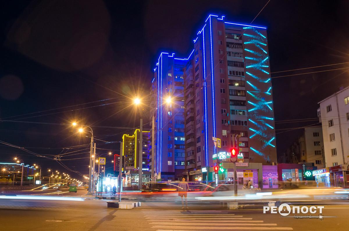 Подсветка домов в Харькове обошлась городскому бюджету дороже на 1,3 млн грн – прокуратура