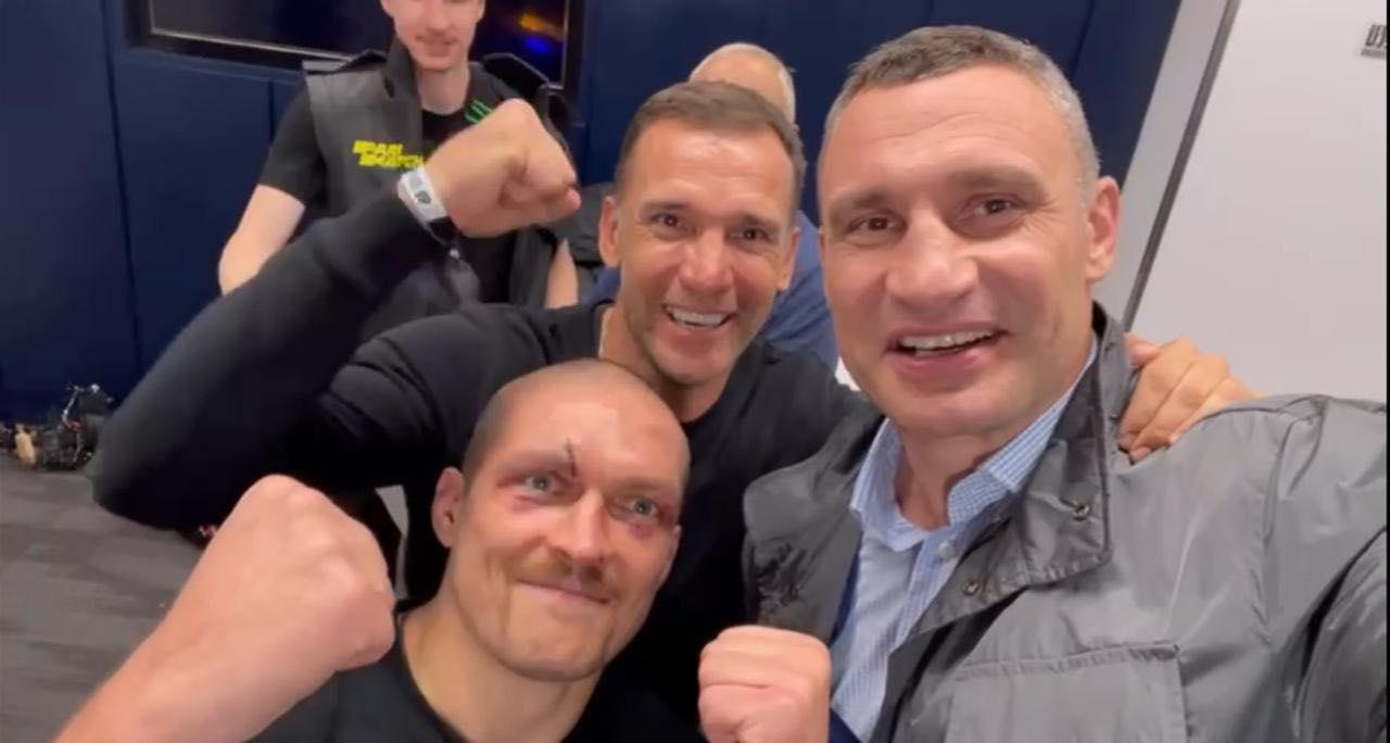 Усика поздравили Кличко и Шевченко