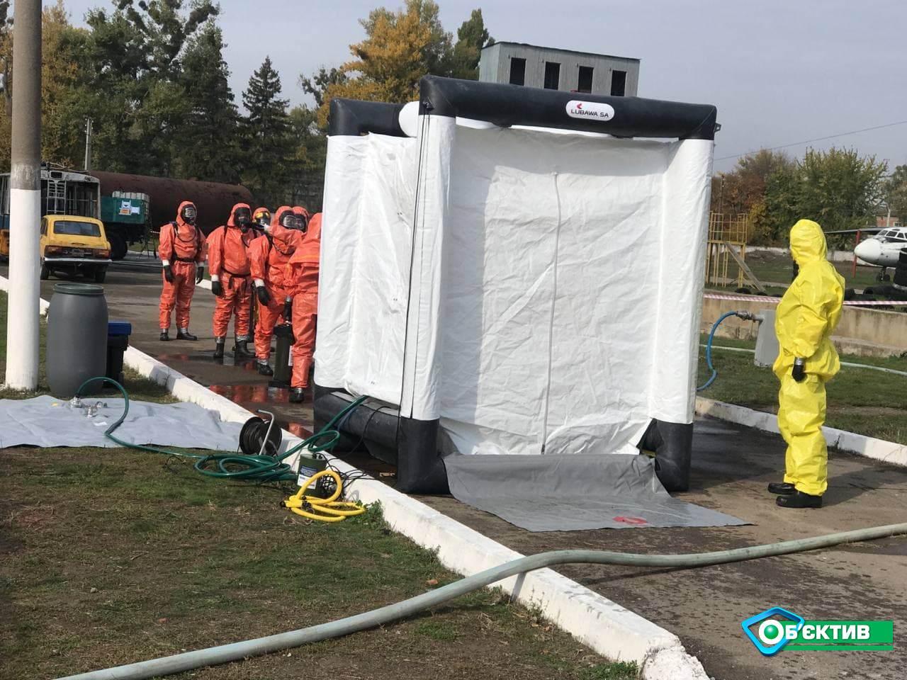 Тренинг по ликвидации химических аварий состоялся в Харькове